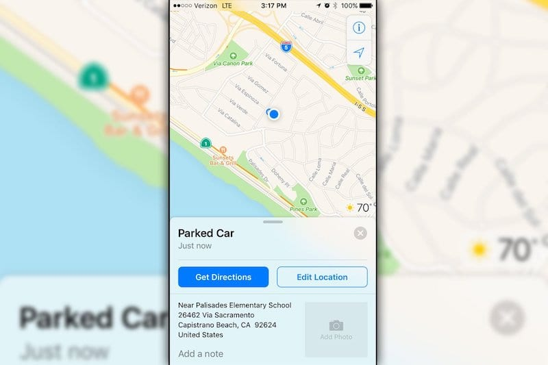 How To Find Parked Car With iPhone Map