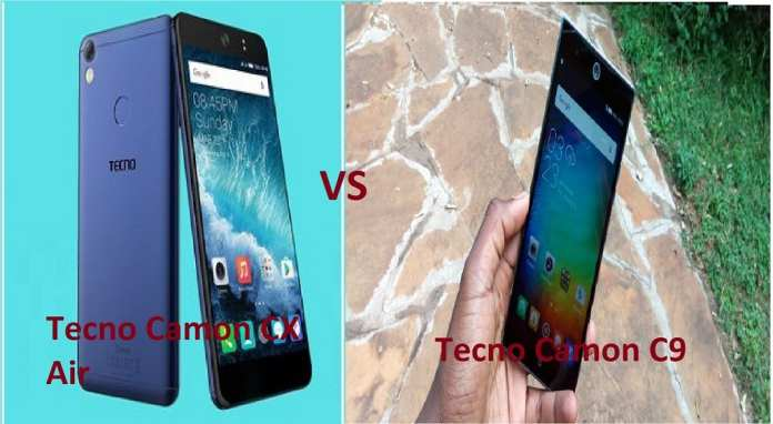 Tecno Camon CX Air vs Camon C9