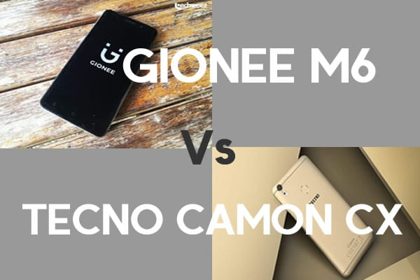 Tecno Camon CX CAMON C10 and Gionee M6