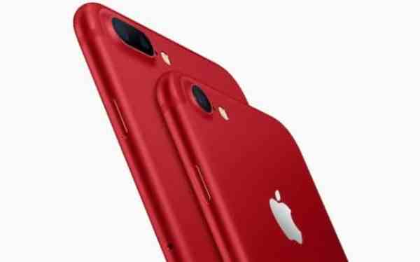 Red iPhone 7 and iPhone 7 Plus