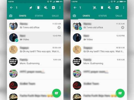 WhatsApp Pin chat feature