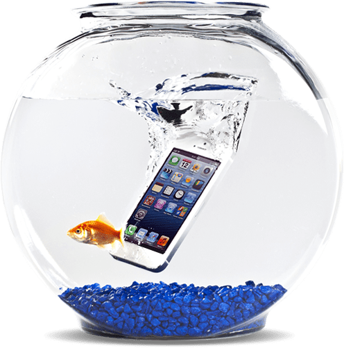 Smartphone drop in water