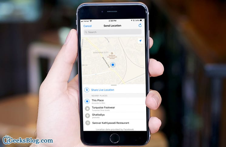 iphone share location how to live location in whatsapp on iphone and 12308