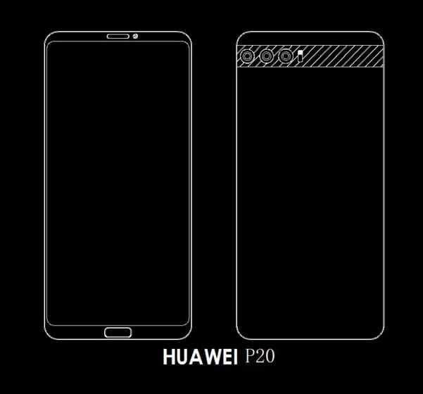 Leaked Images show Huawei P20 with up to 3 back cameras