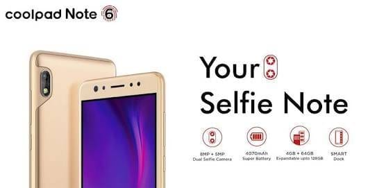 Coolpad Note 6