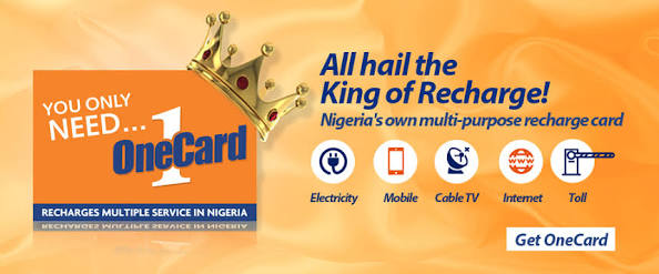 Top up your bank account in Nigeria using OneCard