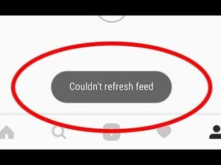 Instagram couldnt refresh feed