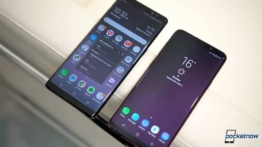 Samsung Galaxy S9 and Note 8