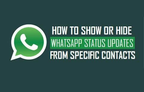 Hide WhatsApp Status Updates