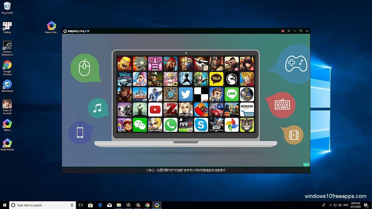 top 10 free android emulator for pc