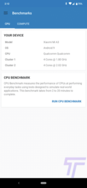 XIaomi Mi A3 Review Geekbench 5 141321