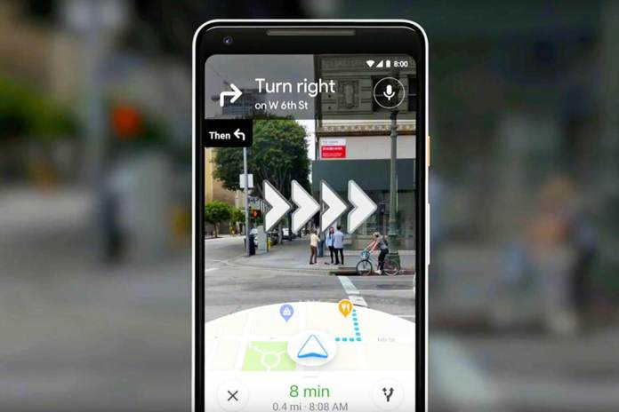 Google Maps Pedestrian Navigation In Augmented Reality Maps