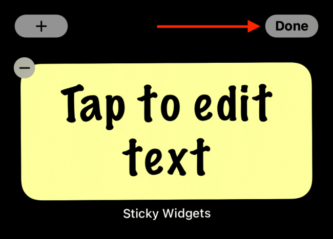 Add Sticky Notes iPhone Home Screen