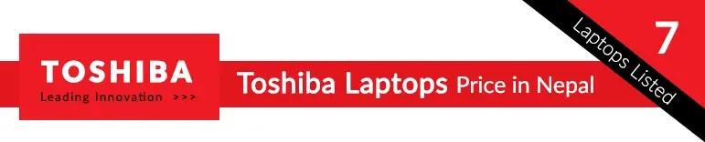 toshiba laptops price in nepal list