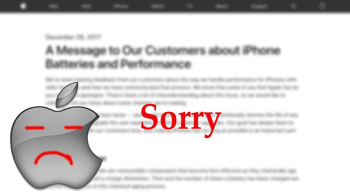 Apple apologizes for iPhone battery issue