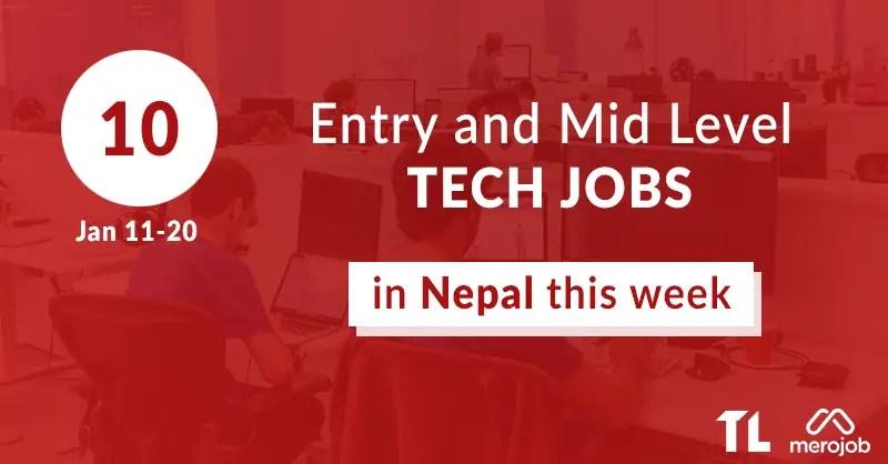 tech jobs nepal jan 12-20