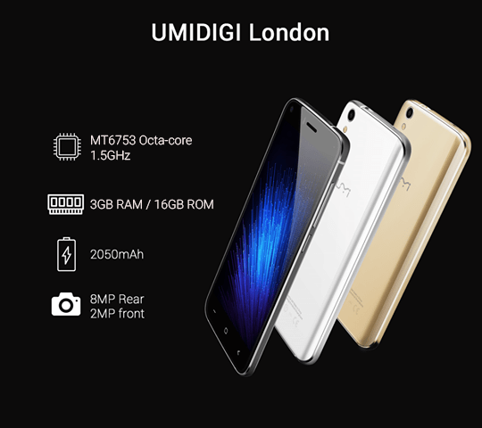 UMIDIGI London With 3GB RAM Now Available in Nepal For Rs. 11,530