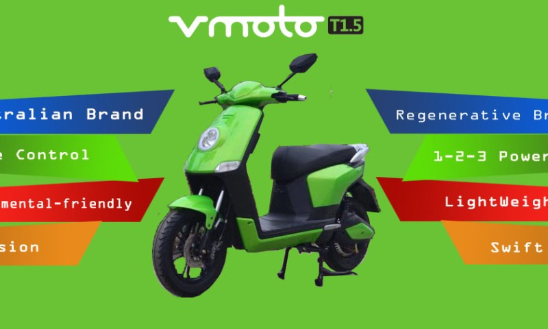 Vmoto T1.5 Electric Scooter Launched in Nepal at Rs. 1,15,000