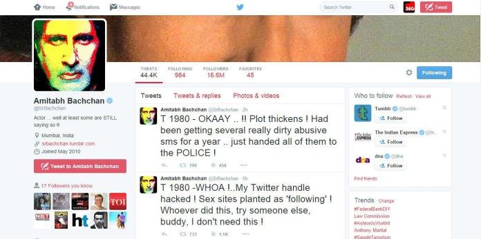 amitabh bachchan twitter accouct hacked