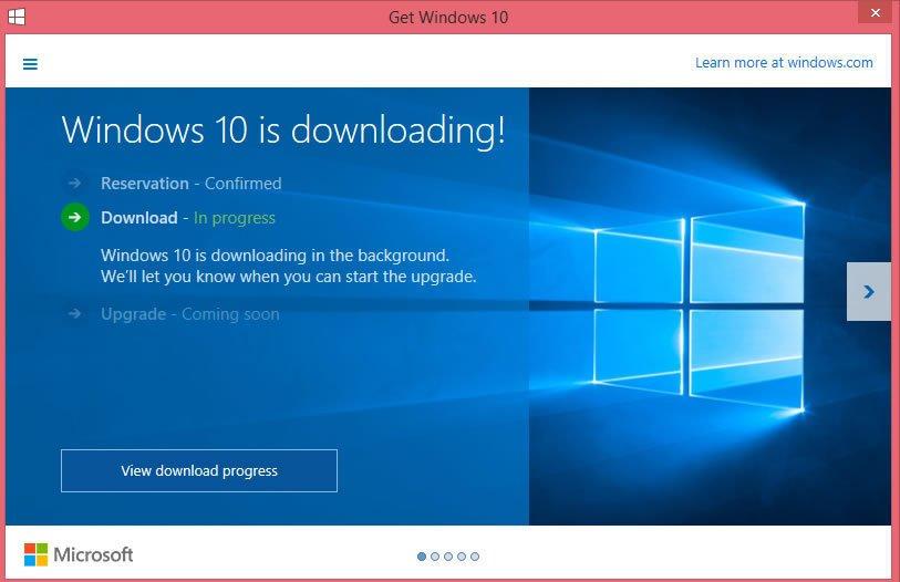 auto-downloading windows 10