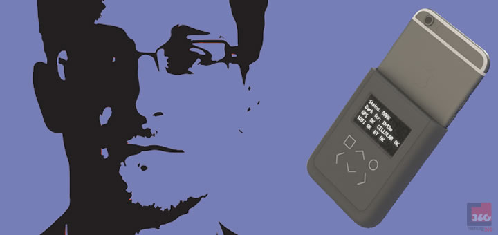Edward Snowden developed a special phone case to keep us safe from spying eyes