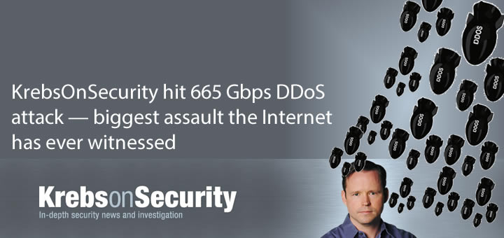 KrebsOnSecurity hit with 665 Gbps DDoS attack — biggest assault the Internet has ever witnessed