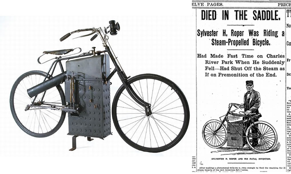 Inventors Killed by their own Inventions - Sylvester H. Roper (1823-1896)
