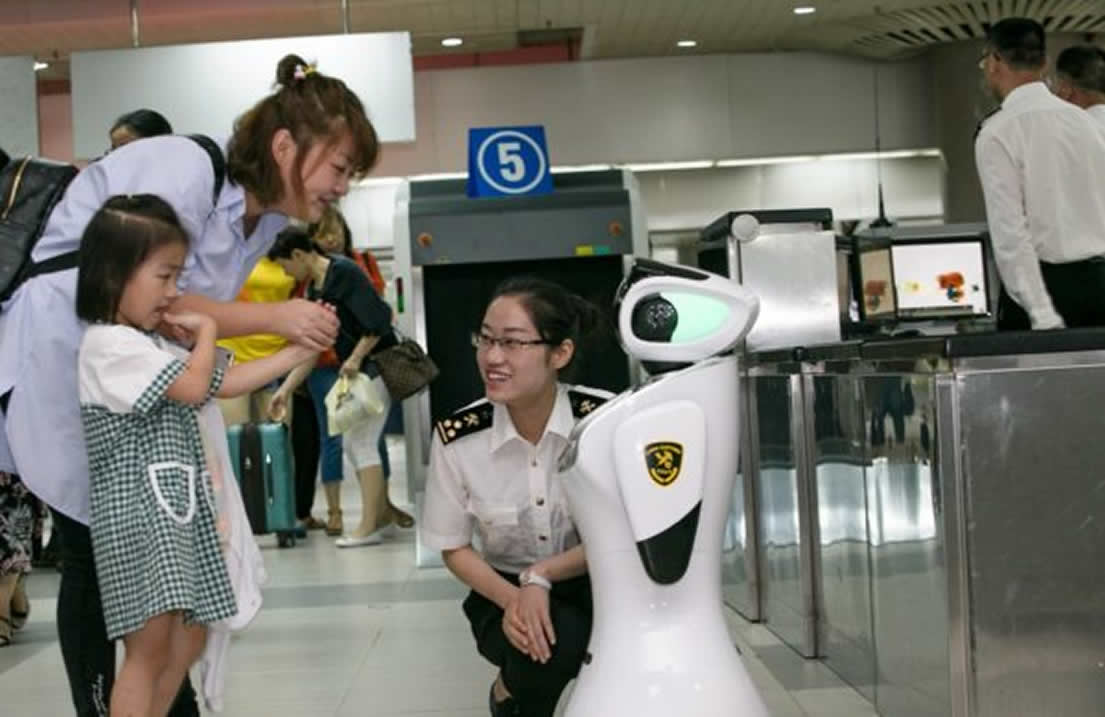 Ten robots are employed as customs officers in China