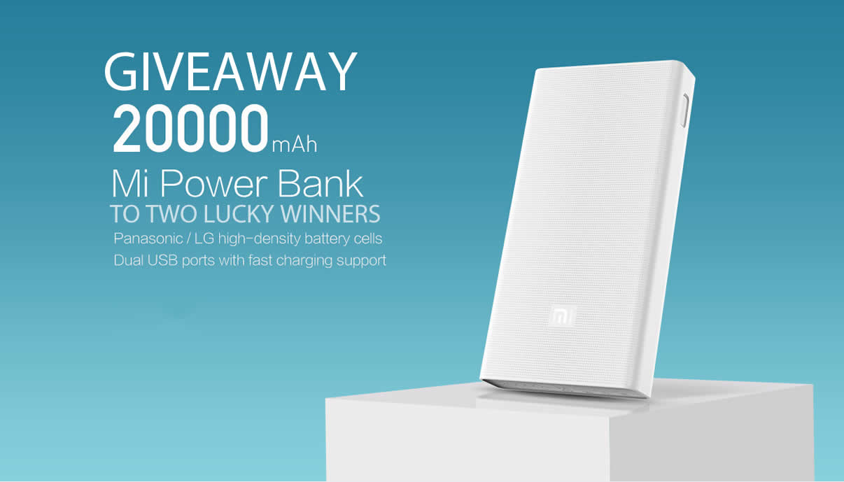 20000 mAh Mi Power Bank (X 2) International Giveaway