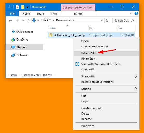 Bypass Windows Login Password