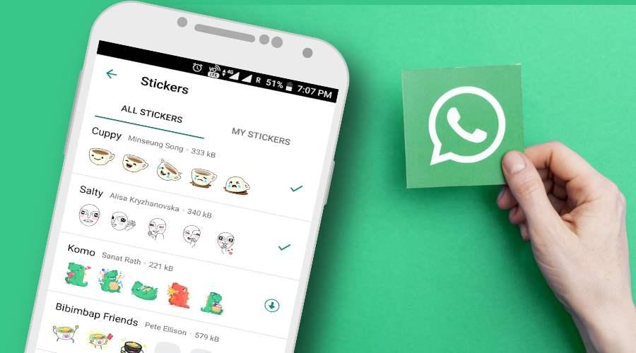 no sticker in whatsapp