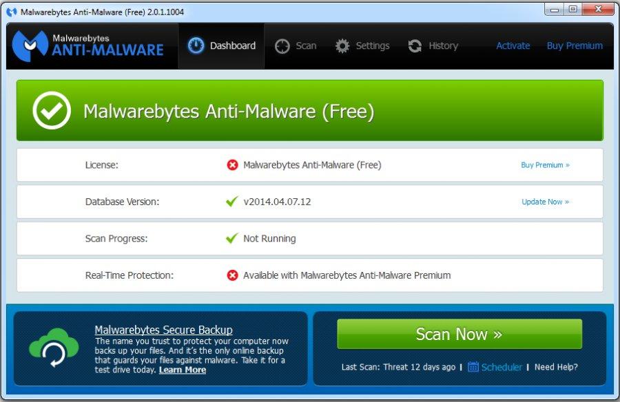 Malwarebytes Anti-Malware   Freemium