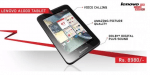 Lenovo Ideapad A1000 Android Tablet is Now available in India