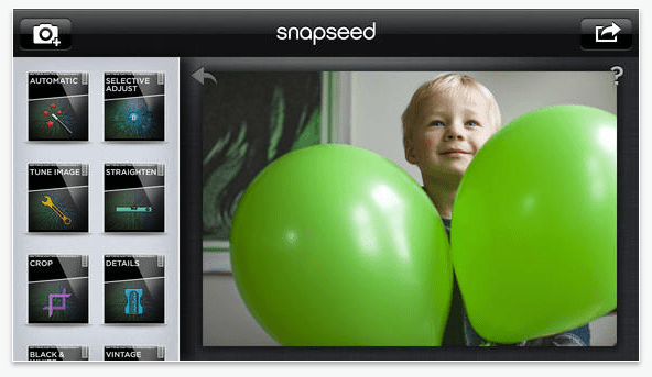 Snapseed: iOS photo editing apps