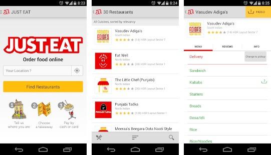 Just Eat Food ordering app