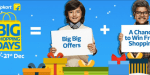 "Best deals from Flipkart's ""Big Shopping Days (18-21 Dec)"""