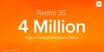 Xiaomi Redmi 3S Sales Cross 4 Million