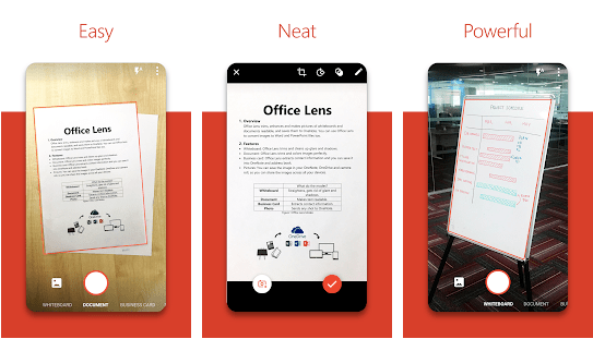 Microsoft Office Lens: Business card scanner app