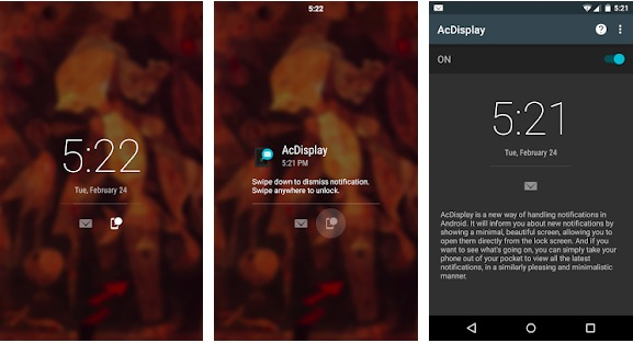 AcDisplay : Lock screen app for Android