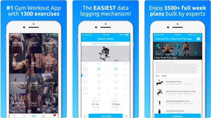JEFIT Bodybuilding app
