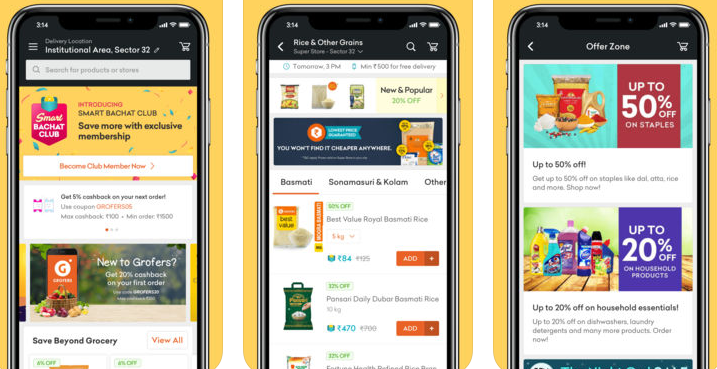 online groccery shopping app
