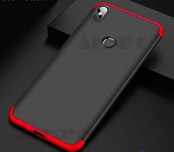 Annure 3 in 1 Matte Hard Back Cover for Xiaomi Mi A2