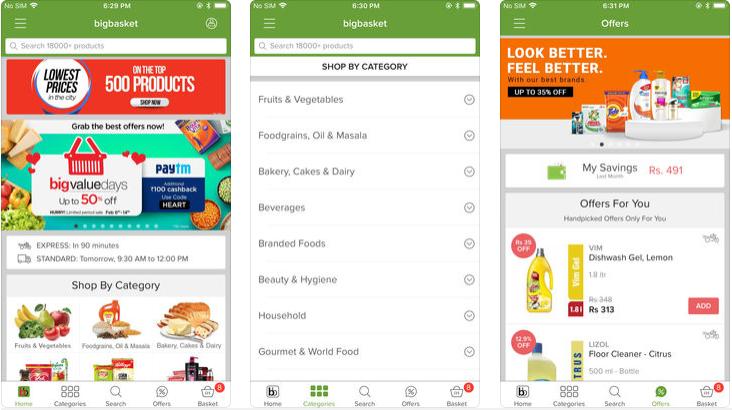 bigbasket shopping app