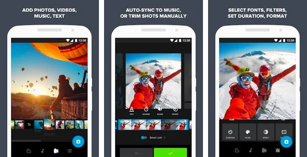 Quik video editing app for Android