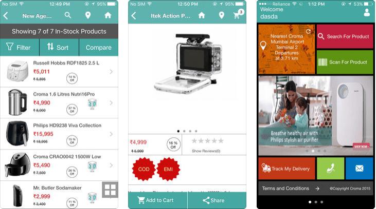 Electronics Shopping App