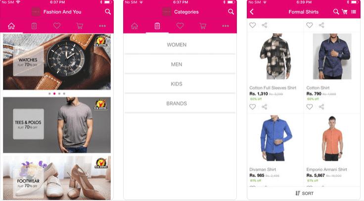 fashion shopping apps india