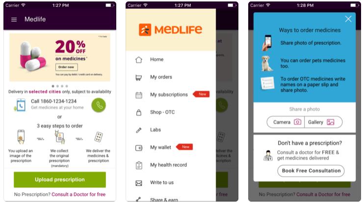 Medlife online medicine purchase app