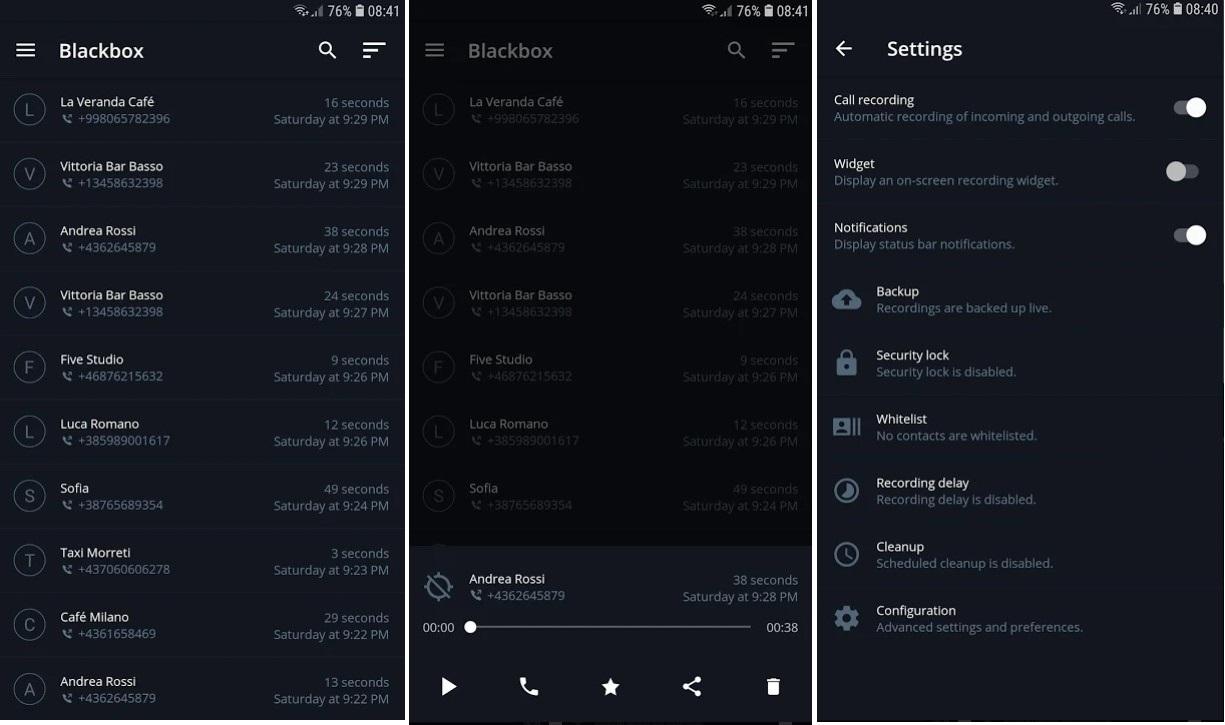 blackbox Automatic Call Recorder App