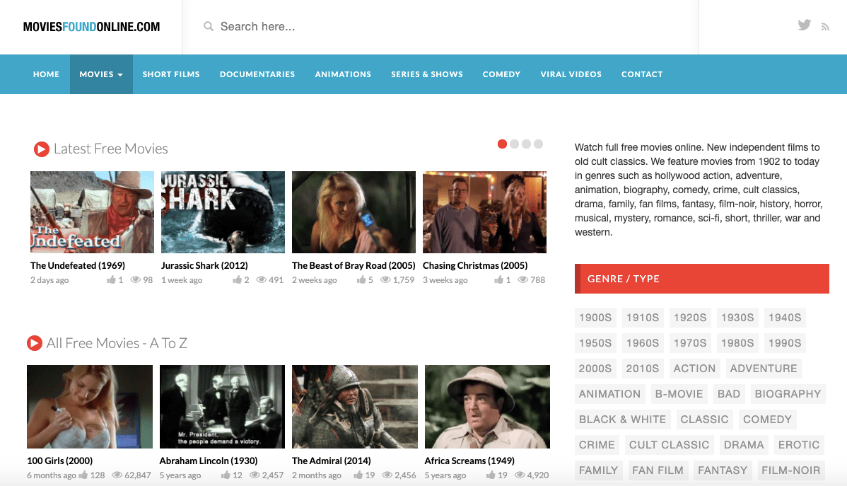 MoviesFoundOnline: Free movie download site