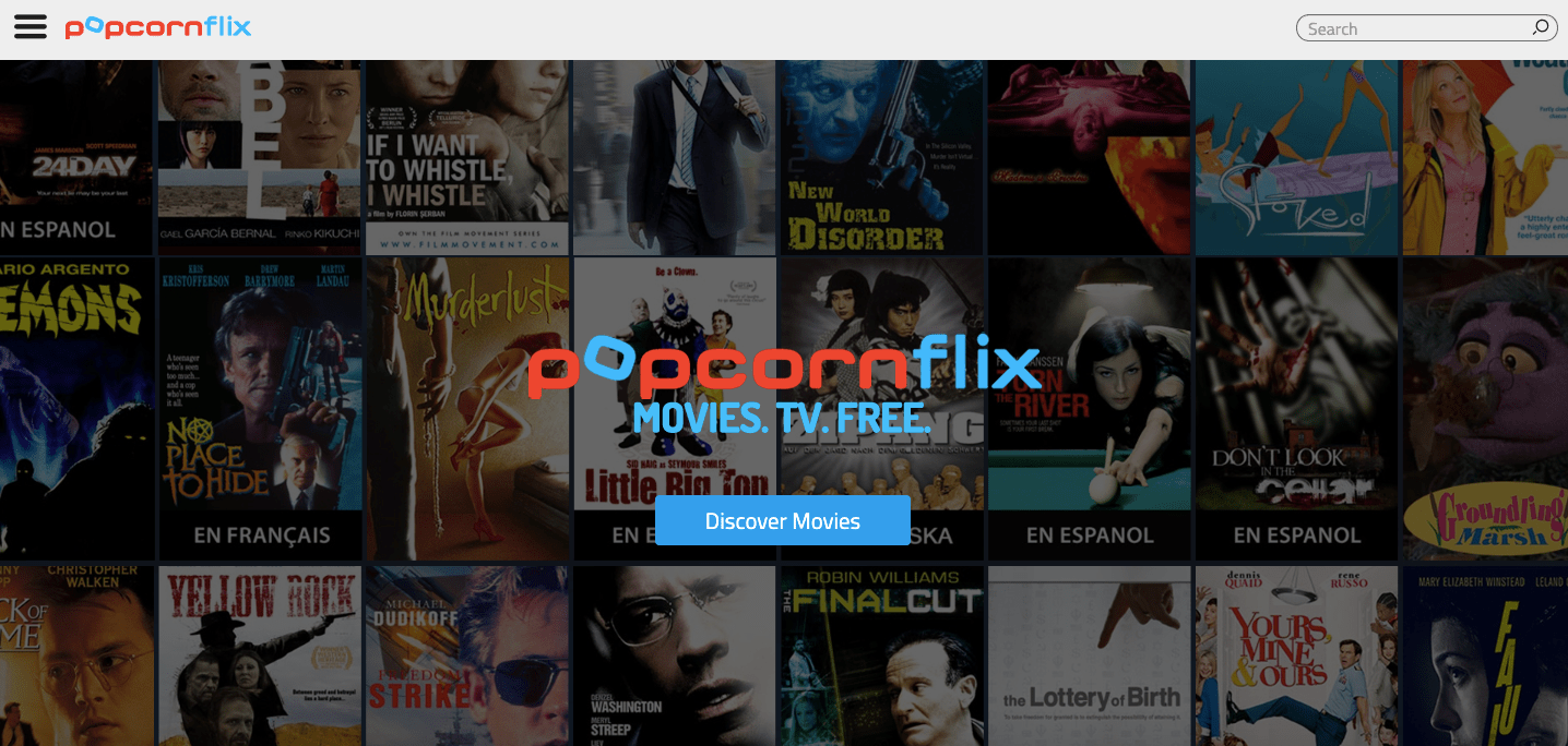 PopcornFlix: Movies download website